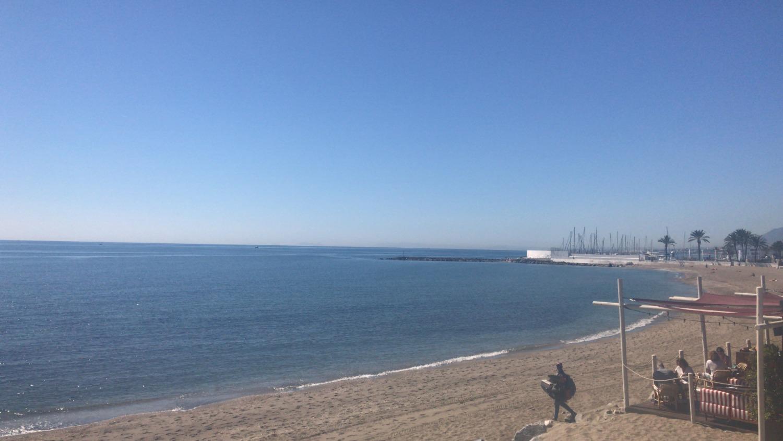 Vistas laterales al mar, segunda linea de playa